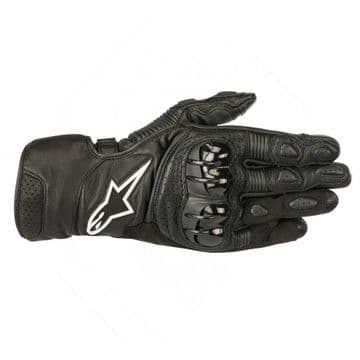 Alpinestars SP-2 v2 CE Approved Leather Mid Length Motorcycle Gloves Black